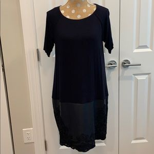 Bailey 44 navy dress- large petite